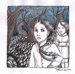 Hansel and Gretel ink sketch