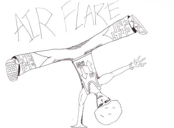 Breakdance Flare Air flare breakdance by