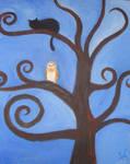 De uil vivat -de uil die op de peerboom zat-