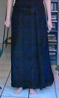 Black wrap around skirt (zwarte wikkel rok) by Mutany