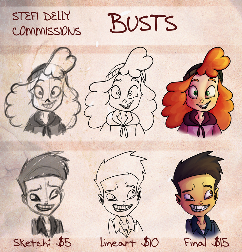 Bust Commissions by Stefi-Delly