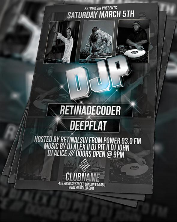 free psd dj party flyer by flyerstars on deviantart guest dj party