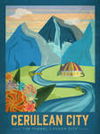 PosterVine Pokemon Travel Poster Cerulean City
