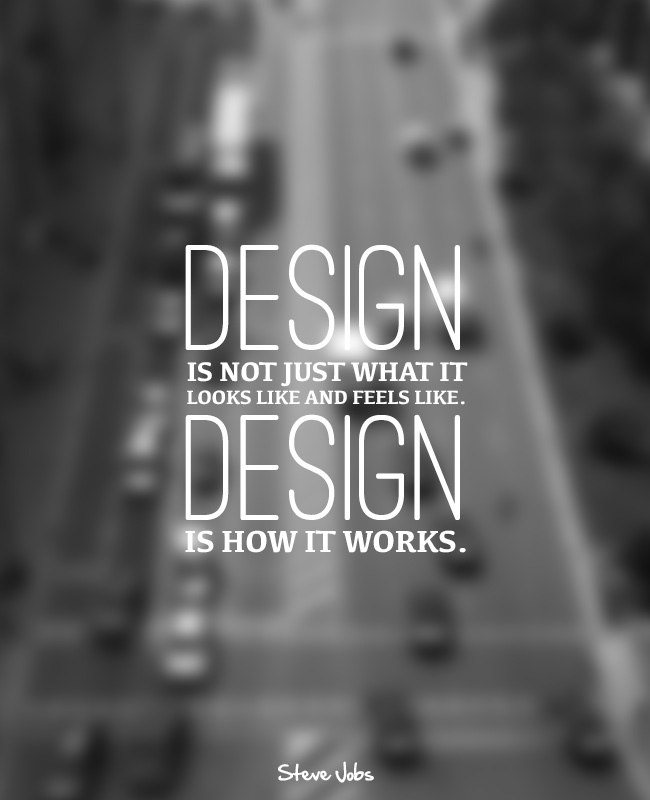PosterVine Steve Jobs Design Quote Poster