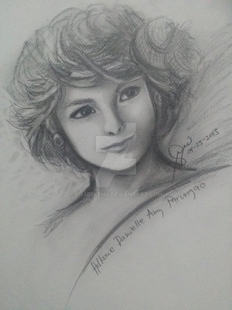Hillarie charcoal painting by ena beleno by eecb
