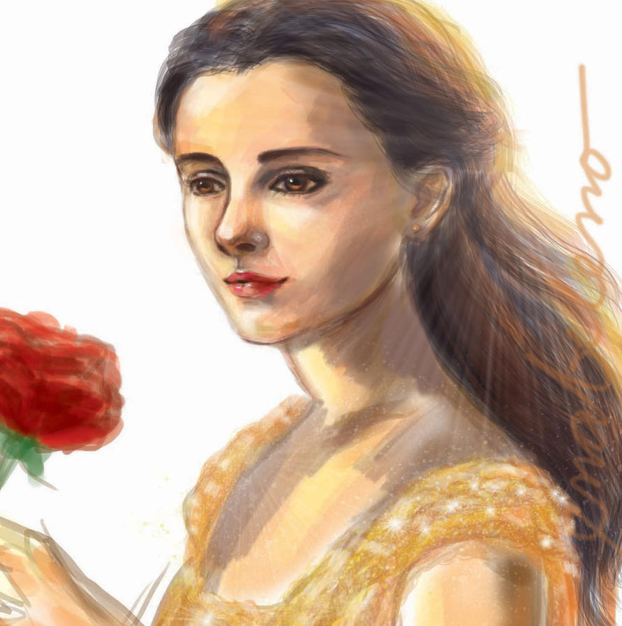 BELLE Emma Watson - Beauty and the Beast Fan Art by enabeleno
