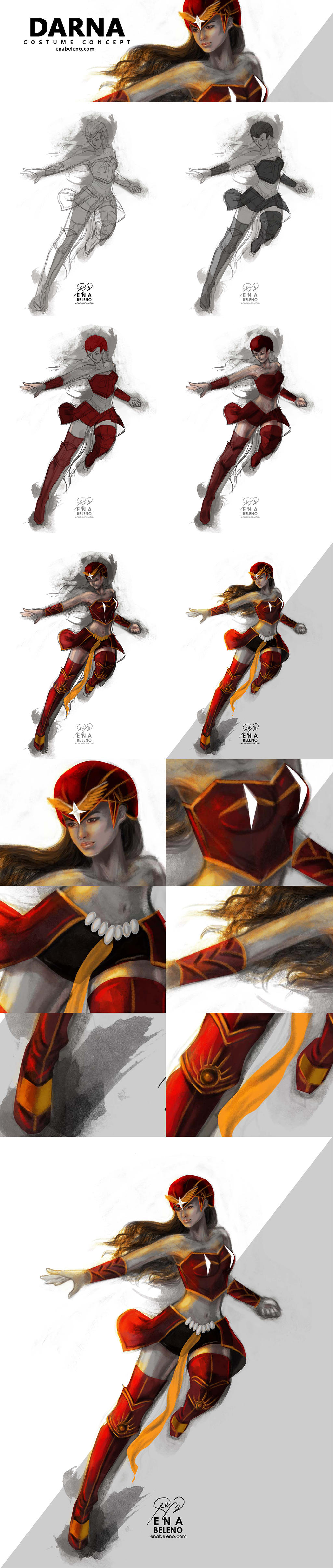DARNA Costume  Concept Digital Painting Tutorial by enabeleno