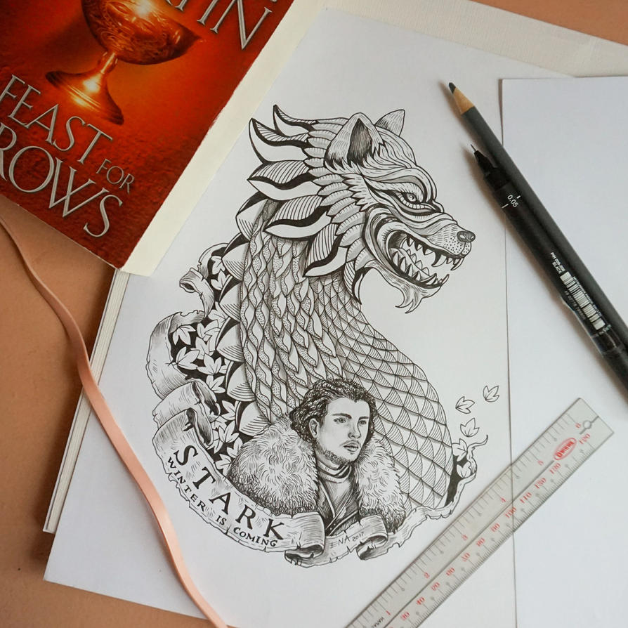Wolf Dragon, House Stark by enabeleno