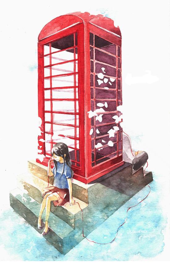 telephone booth of happiness by kawako198