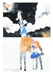 mii and the strange giraffe by kawako198