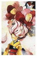 flowing flowers by kawako198