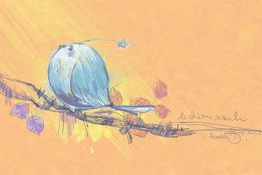 the blue bird by kawako198