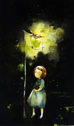 the fireflies lantern by kawako198