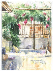 flower door