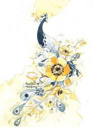 flower peacock by kawako198