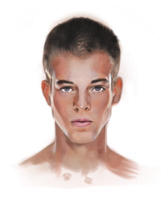 head on portrait study by cqb