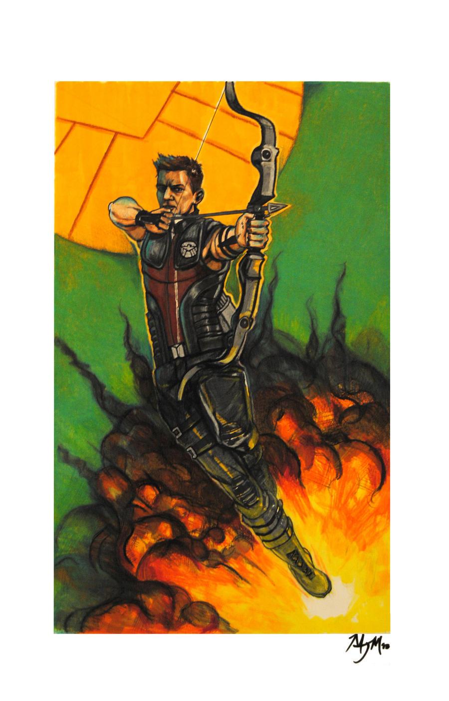 The Avengers Hawkeye by cqb