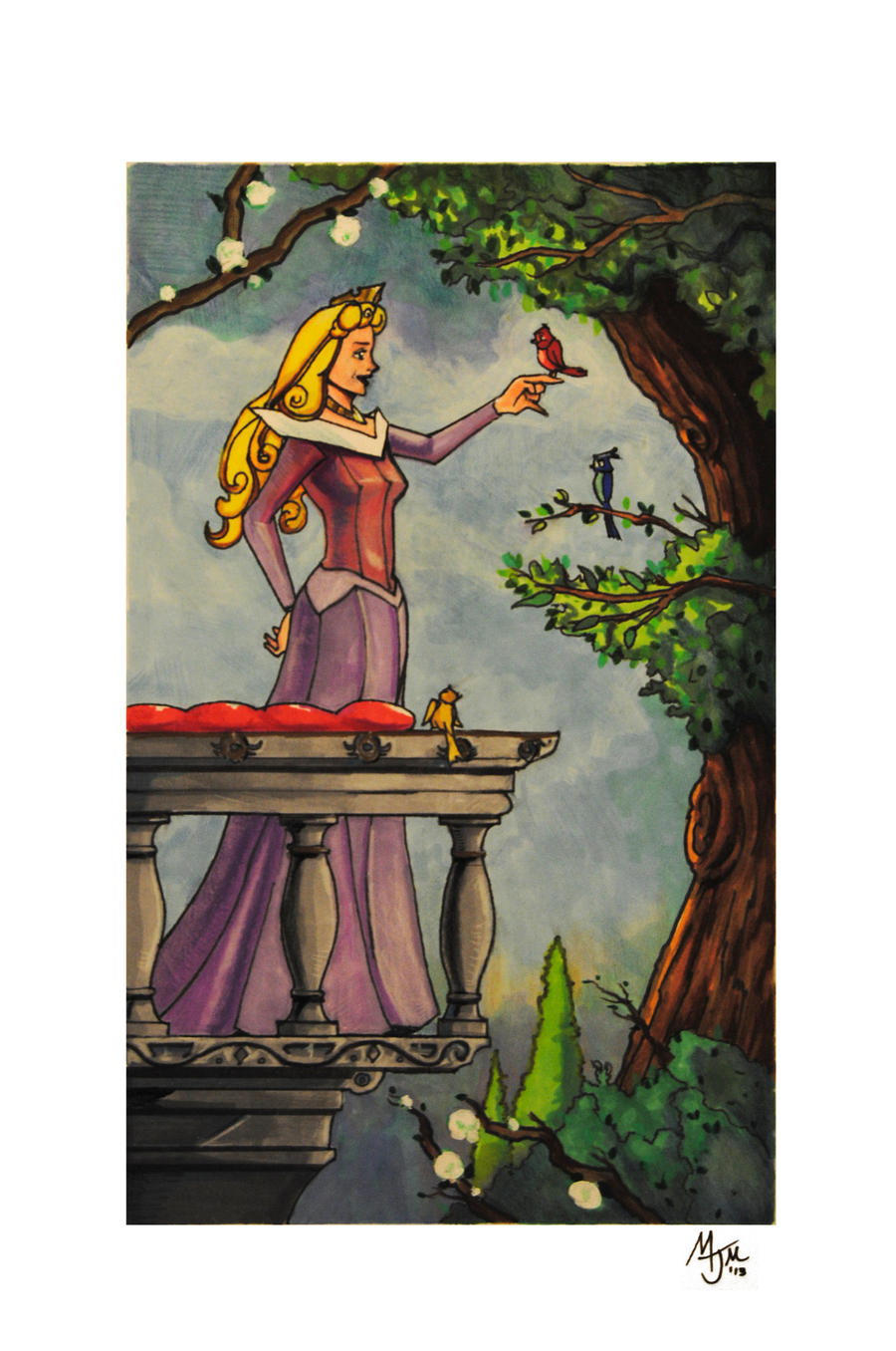 Princess Aurora On the Balcony by cqb