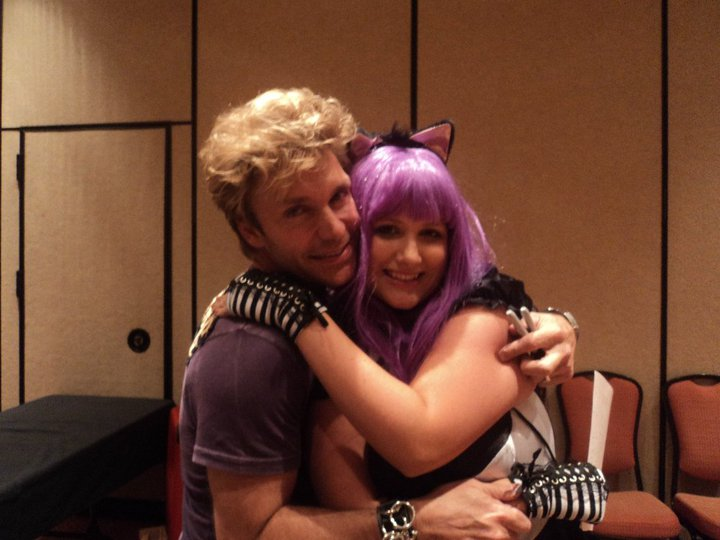 me(cosplayed as Hazuki) and vic mignogna by BocchanKittyPwr