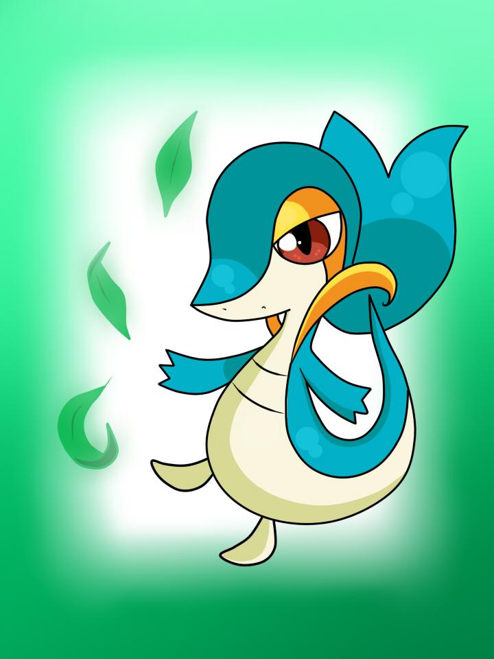 Pokemon Shiny Snivy Images | Pokemon Images