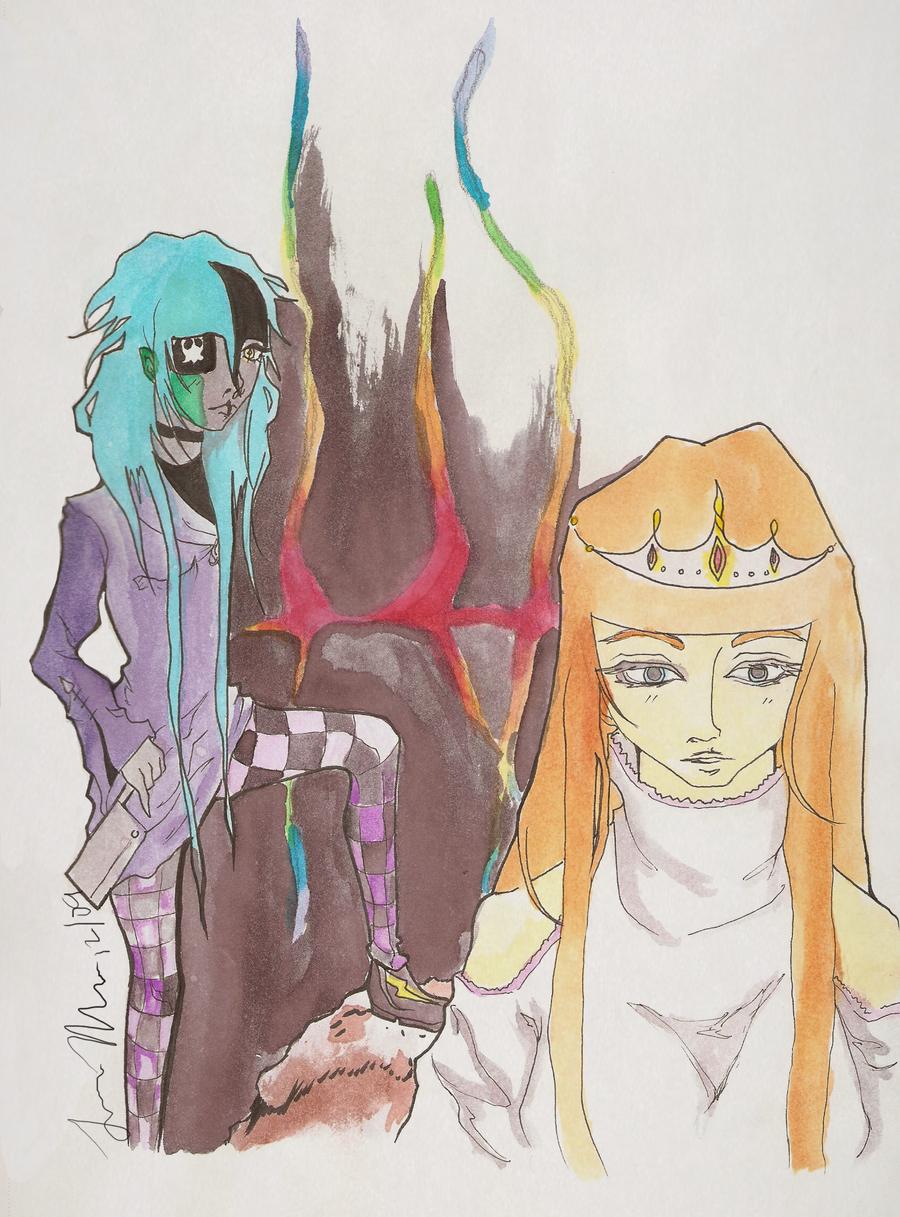 kustra and anemone by YoukoKurama25
