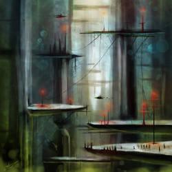 Underwater City-speedpaint by Lanasy