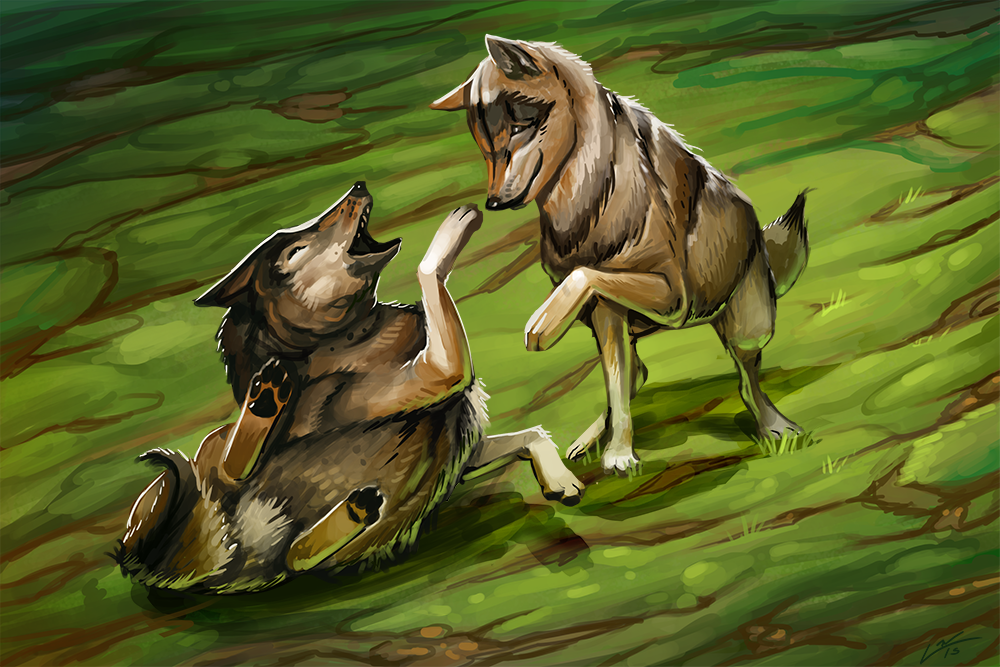 Playing Wolves by Lanasy