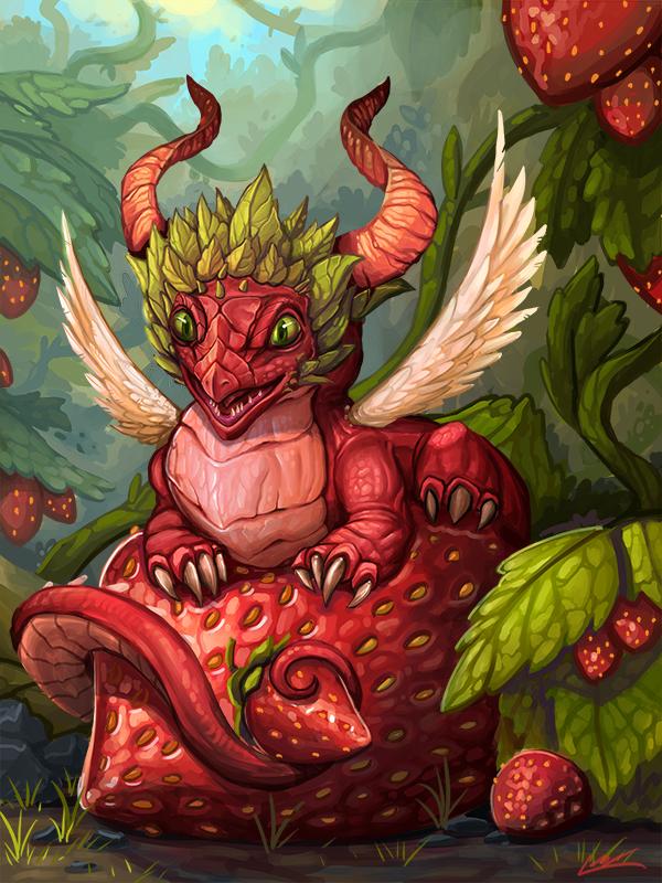 Strawberry Dragon by Lanasy