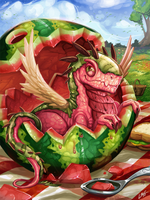 Watermelon Dragon by Lanasy