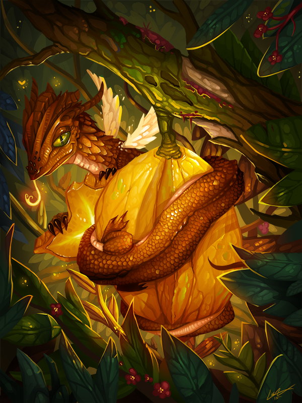 Starfruit Dragon by Lanasy