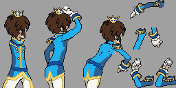 Prince Hilbert Backsprite BEFORE INSERTING by PokemonBrendan