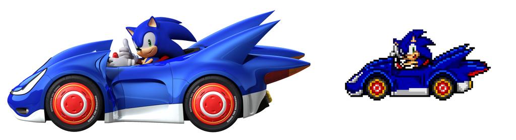 Sonic All Stars Racing Sonic S Car