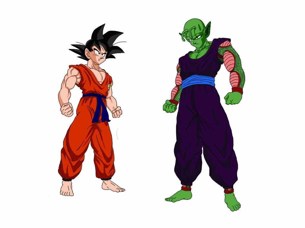 Teen Goku vs. Piccolo Jr. by delvallejoel