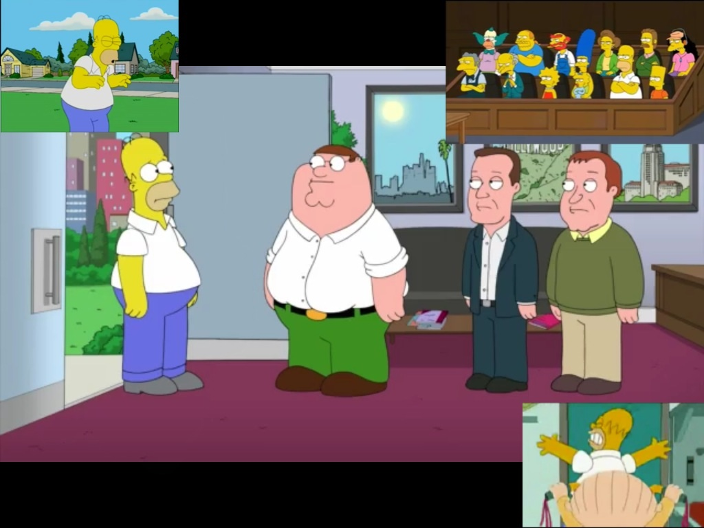 The simpsons family guy simpson cameos on family guy