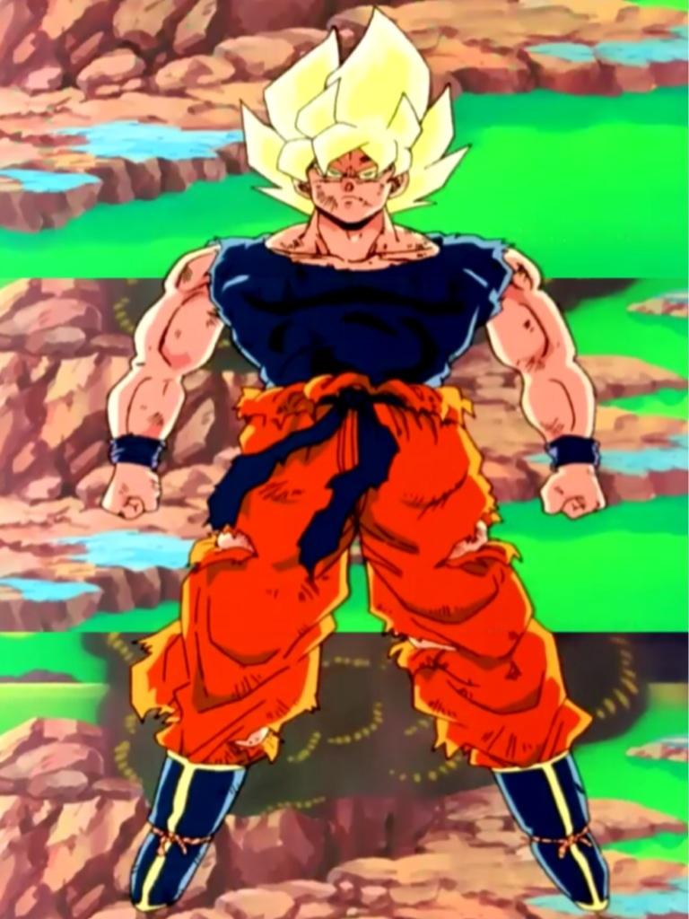Super Saiyan Goku Full Body Dbz Kai By Delvallejoel On