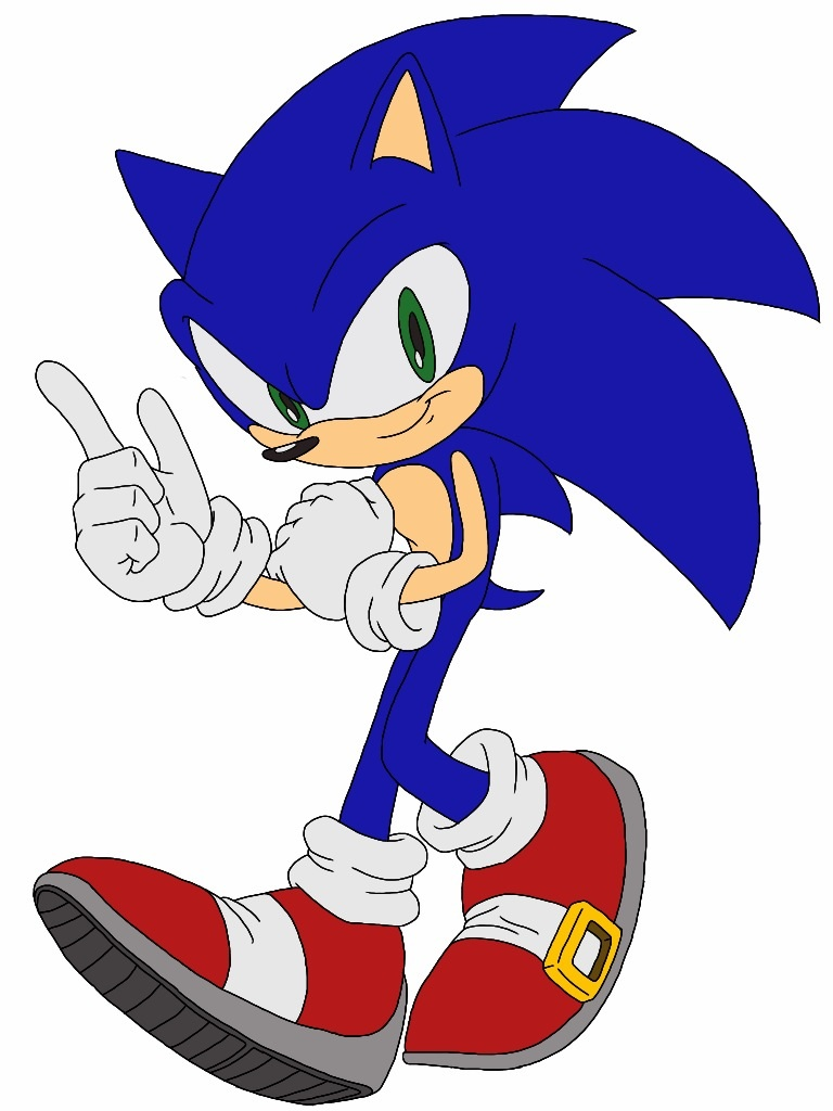 pictures how to draw sonic