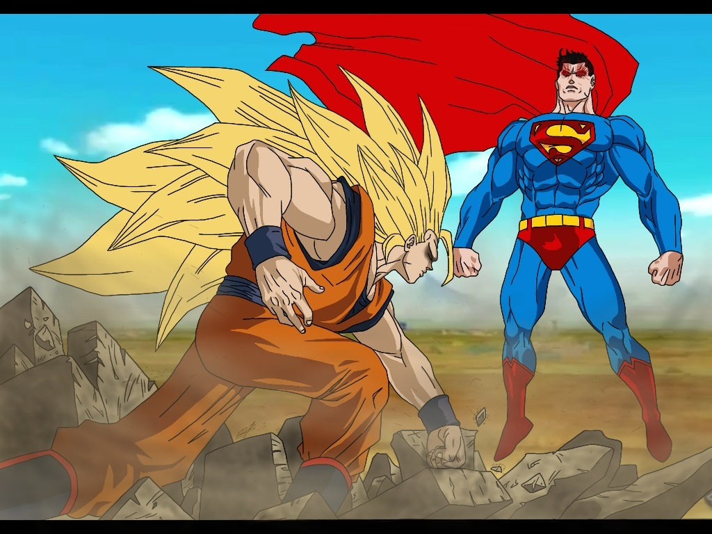 Goku vs. Superman by delvallejoel on DeviantArt