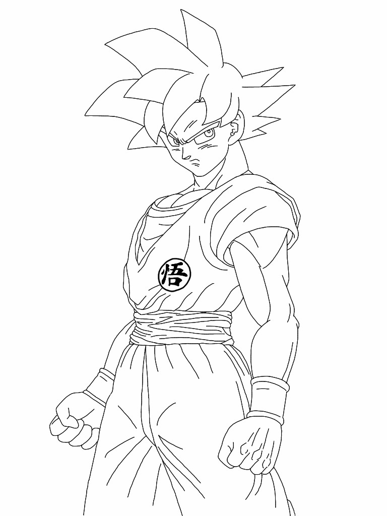 goku and vegeta coloring pages - super saiyan god goku lineart by delvallejoel on