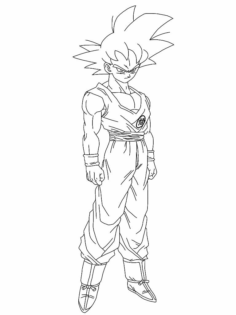 Teen Son Goku Lineart By Delvallejoel On Deviantart