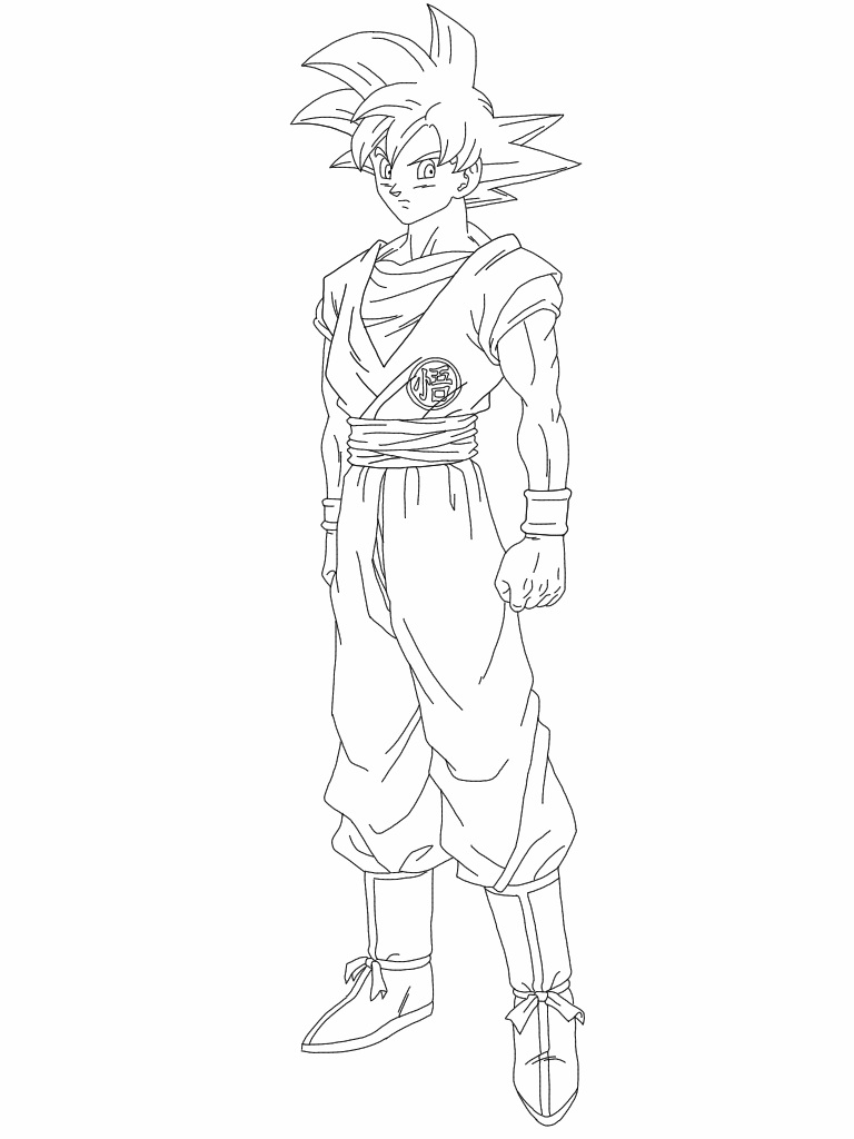 super saiyan god goku lineart by delvallejoel on deviantart