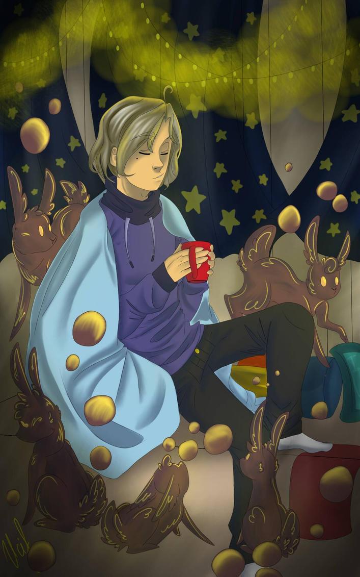Coffee rabbits by Rabbitsoo