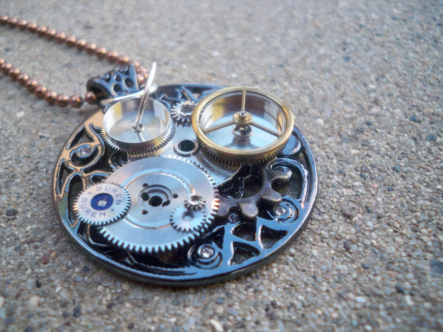 necklace x by mechanical art romance clockwork metal journey steampunk