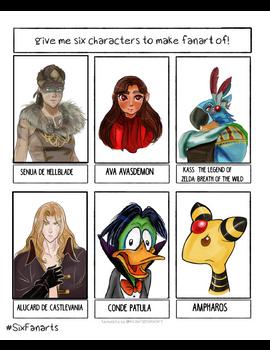 6 Personajes listos