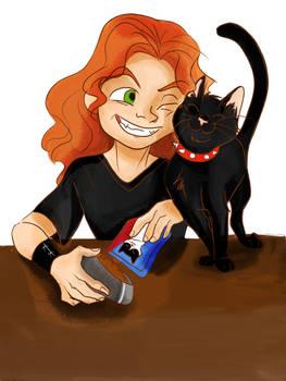 Heavy y su gato Alice