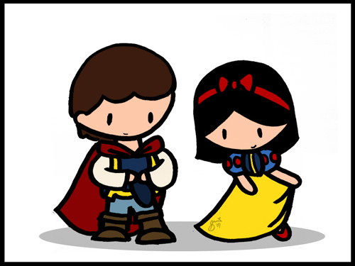 Snow White and Prince by cippow25