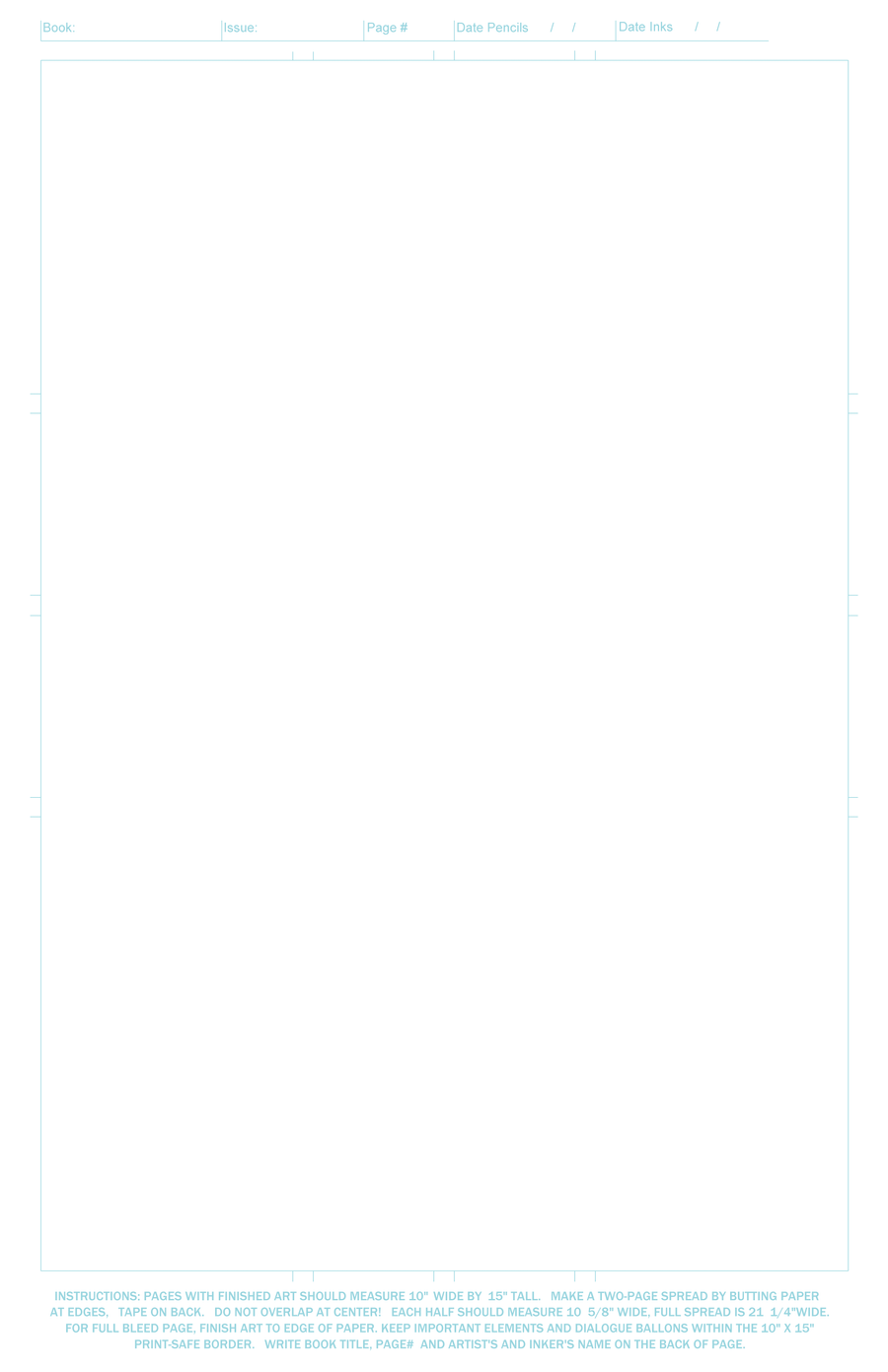 Blank Comicbook Page Template by Rankin-Bass-R-Us