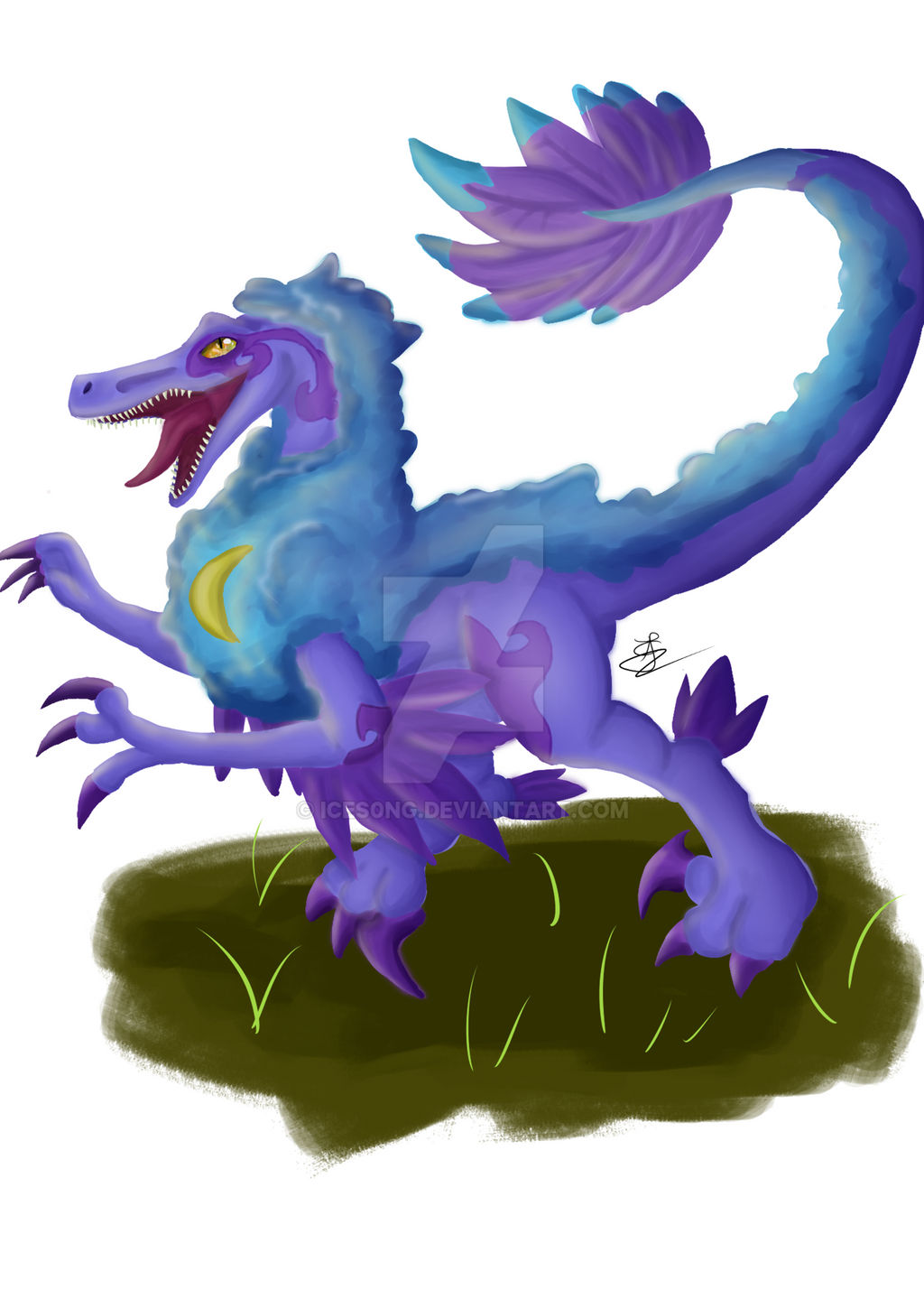 oc raptor drawing by ices0ng on deviantart deviantart