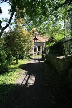 Church entrance path