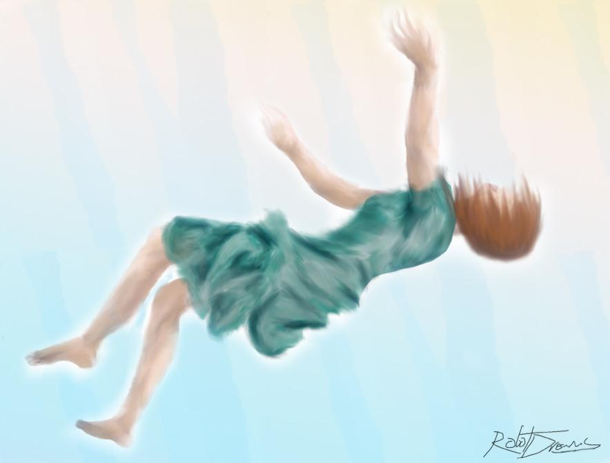 Girl Falling Drawing Falling Girl Falling Girl by