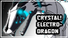 CRYSTALtronix: Electro dragon Stamp by Galaxy232